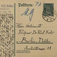 Wilhelm Levison: Briefe an Paul F. Kehr (1928-1935)