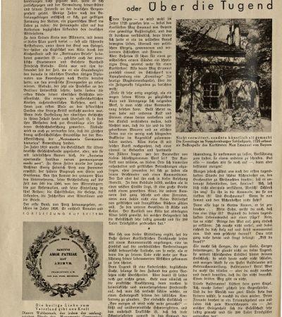 """Wochenzeitschrift """"Die Woche"""" vom 9.6.1934, Beitrag über MGH 3. MGH-Archiv K 208"""