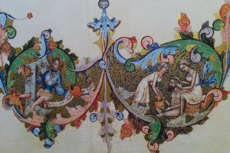 Wenzelsbibel, links und rechts in der Ranke König Wenzel dargestellt. Fotos: MGH/Rommel