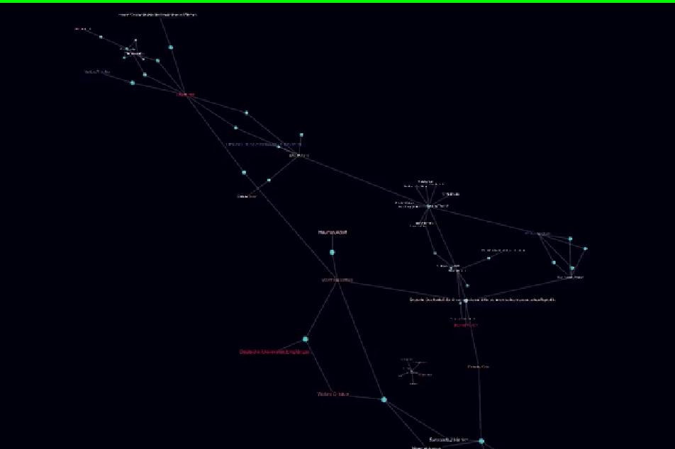"""Visualisierung eines Gelehrtennetzwerks: Ein Feature des zukünftigen Web-Angebots. Darstellung: Sebastian Still/Entwickler und technischer Koordinator """"Korrespondierende Wissenschaft"""""""